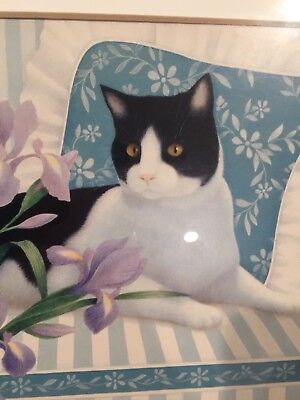 Weird Cat Picture In Frame Black And White Cat
