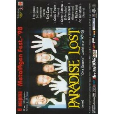 PARADISE LOST (UK GROUP) One Second World Tour 97/98 FLYER Russian 1998 Full