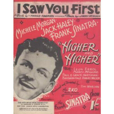FRANK SINATRA I Saw You First SHEET MUSIC UK 4 Page Original Sheet Music