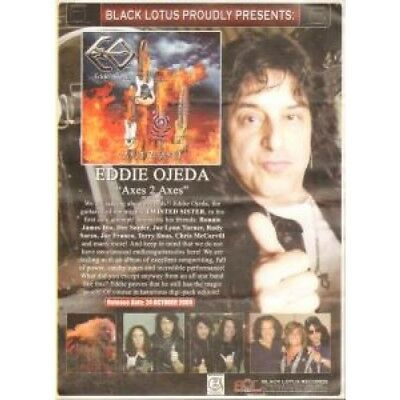 EDDIE OJEDA Axes 2 Axes FLYER UK Black Lotus 2005 A4 1-Sided Flyer For Album