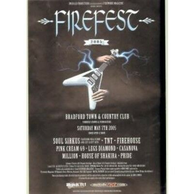 FIREFEST 2005 S/T FLYER UK 2005 A5 1-Sided Flyer For Heavy Metal Festival