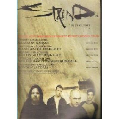 STAIND March 2006 Uk Tour FLYER UK Clear Channel 2006 A5 Single Sided Flyer For