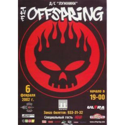 OFFSPRING Live In Moscow FLYER Russian 2002 Full Colour Promo Flyer 6/02/2002