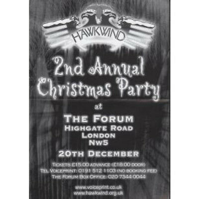HAWKWIND 2Nd Annual Christmas Party FLYER UK Voiceprint Double-Sided A5 Flyer
