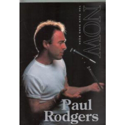 PAUL RODGERS Now TOUR PROGRAMME UK 1997 A4 Tour Song Book