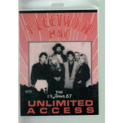 FLEETWOOD MAC Unlimited Access PASS 1987 Laminated Unlimited Access