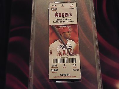 Mike Trout Autographed CYCLE ticket 5/21/2013 PSA/DNA. encased, rare!!!!!!!!!!!