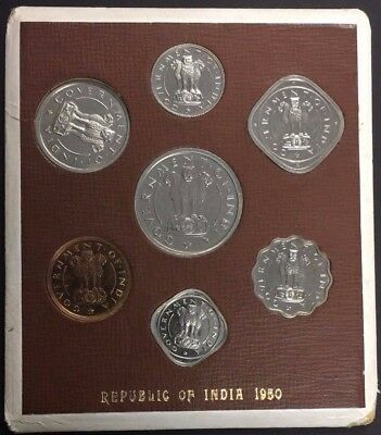 1950 and 1954 India Mint Proof Coin Sets