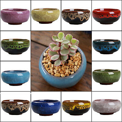 Ice Crack Glaze Flower Ceramics Succulent Plant Mini Pot Garden Flowerpot Newly