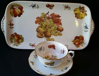 Hammersley Fruit Cup and Saucer with Tray