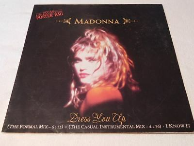 "MADONNA - 12"" Vinyl Maxi Single - Dress you up + Poster"