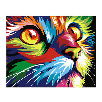Unframed ART Paint by Numbers Kit for Adults Kids -16x20'' Linen Canvas -CAT