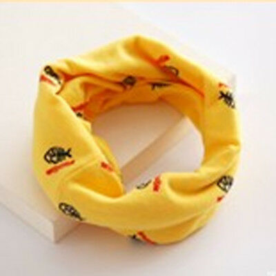 Baby Kids Child Boy Girl Star Pattern Scarves Neck Wrap Scarf Neckerchief Yellow
