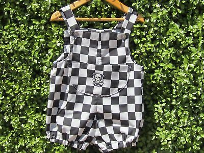 NEW Handmade Boys Size 2 Pirate check romper