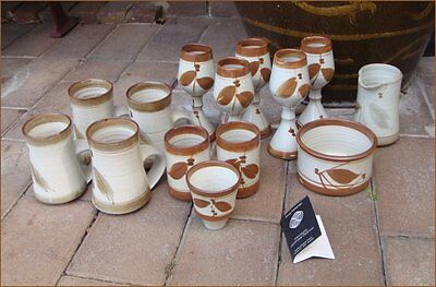Vintage x14pcs DOUG ALEXANDER Cuppacumbalong Pottery Mugs,Port, Sugar,Creamer++