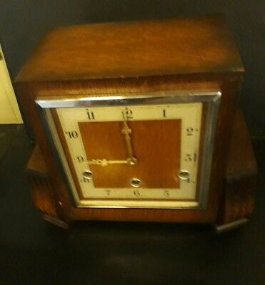 Lovely English Art Deco Westminster Chiming Mantle Clock  has no 195465 on back