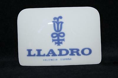 RARE Porcelain Dealer Sellers Display Sign Plaque LLADRO Spain