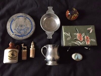 Mixed lot Clear out Collectables All Good Pewter / Gilded / Trinket Box