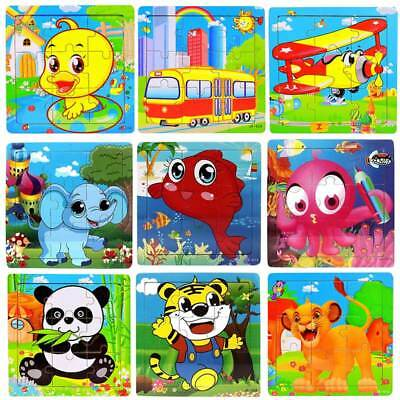 Cartoon Fish Wooden Puzzles for Children Toddler Early Educational Jigsaw Toys