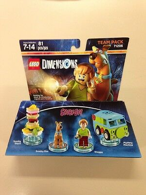 Lego Dimensions Team Pack Set 71206 Scooby Doo and Shaggy BNIB