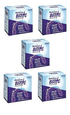 Retainer Brite 36 Tablets, Mouth guard Denture  Cleaner Plaque remover - 5 Boxes