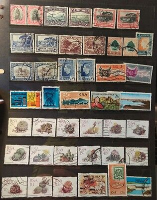 South Africa Stamps Selection used L10