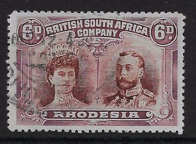 Rhodesia Double Head 6d p14 RSC H used position 7