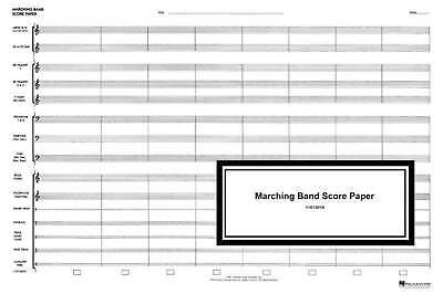 Marching Band Score Paper
