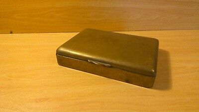 Antique brass cigarette box.