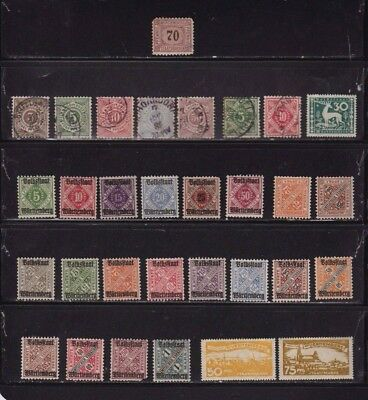 WURTTEMBERG, Germany Stamps 1875 - 1920  Mint & Used