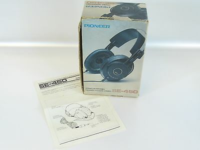 PIONEER SE 450 Stereo Headphones BOX AND MANUAL ONLY Vintage 1982
