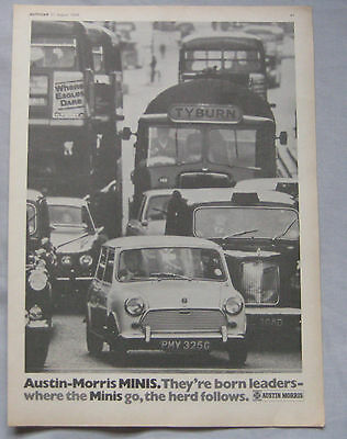 1969 Austin Morris Mini Original advert No.1