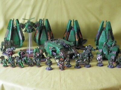 Warhammer 40K Space Marines Painted Salamader Army - Many Units To Choose From