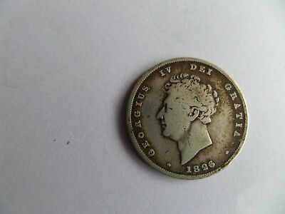 1826 George IV One Shilling Coin