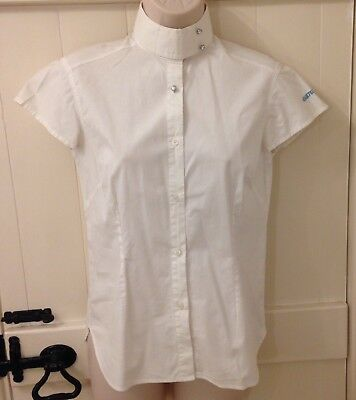 Equetech Ladies/girls Diamonte Competition Shirt UK Size 10