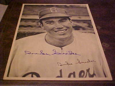 Duke Snider Signed Vintage Brooklyn Dodgers 8X10 Photo