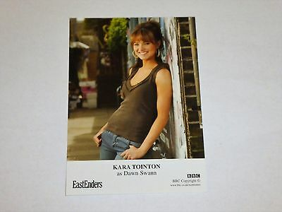 "PRE SIGNED 6"" x 4"" PHOTO CARD - EASTENDERS - KARA TOINTON - DAWN SWANN"
