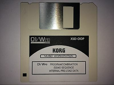 KORG 01/W FD - Internal Pre-Load data / Factory Reset disk  01W O1W System Reset