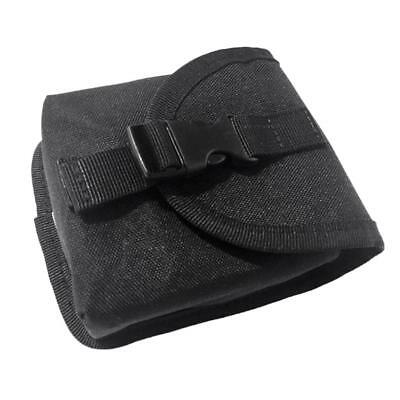 Spare Scuba Diving Weight Belt Pocket Pouch with Buckle - Black