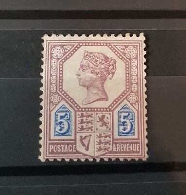 Gb Stamps Queen Victoria Sg 207A 5D Dull Purple And Blue M/mint