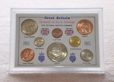 Great Britain Farewell to LSD. 8 Coins set in Presentation Case