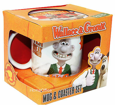Wallace And Gromit Coaster & Mug Gift Set Cup Nice Gift Set