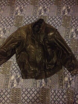 Grey Vintage Lamb skin Bike Jacket Size 42