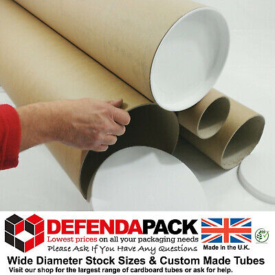 "4 x 1.5m 1500mm 59"" LONG x 8"" 203.2mm Extra Wide DIAMETER Strong Postal Tubes"