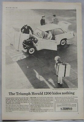 1966 Triumph Herald 1200 Original advert No.2
