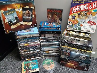 49 Boxed PC Game Bundle Job Lot : Monkey Island Age Of Empires Starcraft Myst