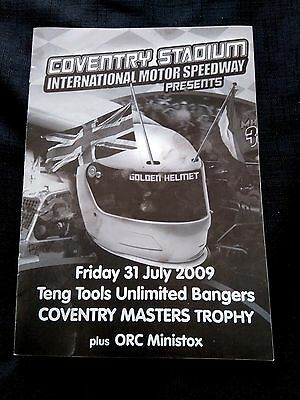 Banger Racing Programme Coventry July 2009 Unmarked