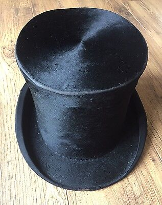 William Whitely Ltd Vintage Silk Plush Top Hat