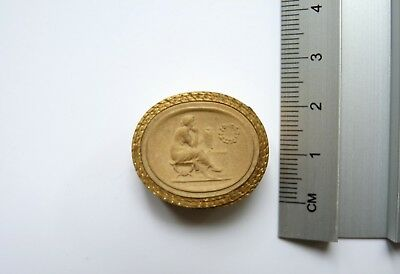 Anitque Grand Tour Plaster Cameo 038 c19th
