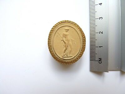 Anitque Grand Tour Plaster Cameo 033 c19th